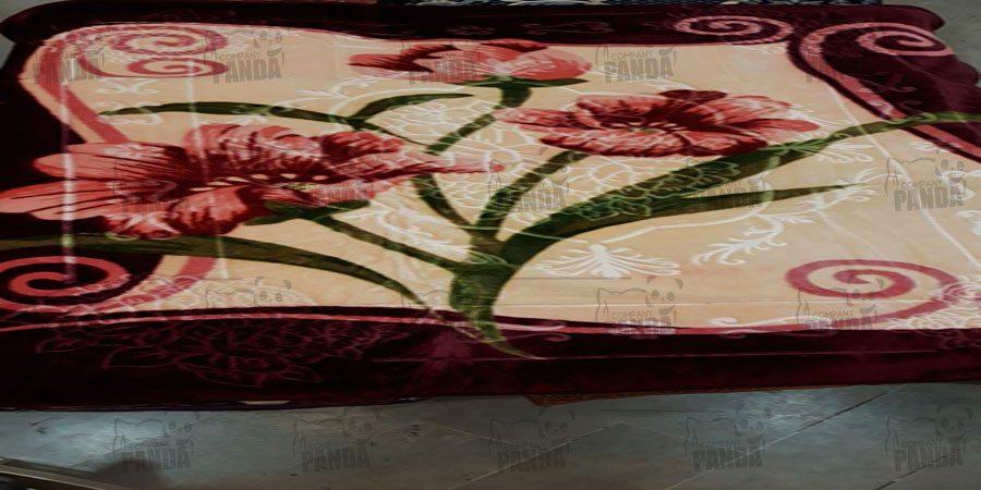 صادرات پتو مدل زنبق یک نفره